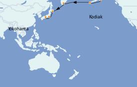 Itinerario de crucero Asia 15 días a bordo del Silver Muse