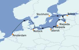 Itinerario de crucero Mar Báltico 8 días a bordo del Norwegian Dawn