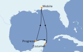 Itinerario de crucero Caribe del Oeste 6 días a bordo del Carnival Fantasy