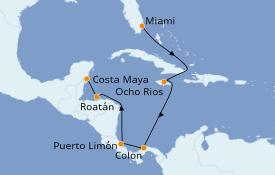 Itinerario de crucero Caribe del Oeste 11 días a bordo del MSC Armonia