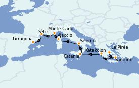 Itinerario de crucero Mediterráneo 9 días a bordo del Jewel of the Seas