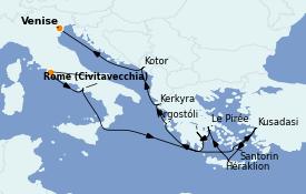 Itinerario de crucero Grecia y Adriático 13 días a bordo del ms Oosterdam
