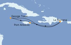 Itinerario de crucero Caribe del Este 13 días a bordo del Club Med 2
