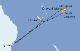 Itinerario de crucero Australia 2020 13 días a bordo del Majestic Princess