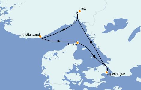 Itinerario del crucero Mar Báltico 7 días a bordo del Voyager of the Seas