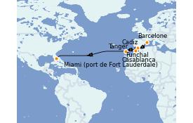 Itinerario de crucero Islas Canarias 16 días a bordo del ms Volendam