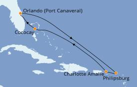 Itinerario de crucero Caribe del Este 8 días a bordo del Allure of the Seas