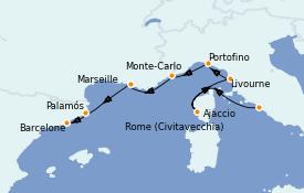 Itinerario de crucero Mediterráneo 8 días a bordo del Silver Moon