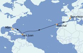 Itinerario de crucero Mediterráneo 13 días a bordo del MS Marina