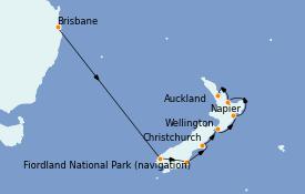 Itinerario de crucero Australia 2022 11 días a bordo del Coral Princess