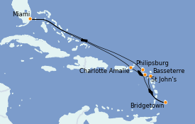 Itinerario de crucero Caribe del Este 11 días a bordo del Oasis of the Seas
