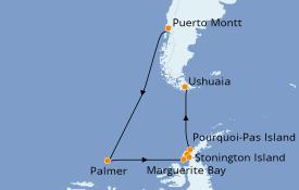 Itinerario de crucero Norteamérica 19 días a bordo del Le Commandant Charcot