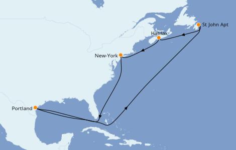 Itinerario del crucero Canadá 6 días a bordo del Carnival Magic