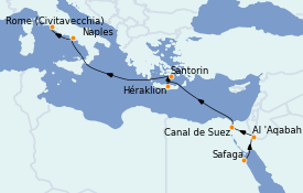 Itinerario de crucero Trasatlántico y Grande Viaje 2022 13 días a bordo del MSC Magnifica