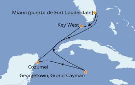 Itinerario de crucero Caribe del Oeste 7 días a bordo del Celebrity Equinox
