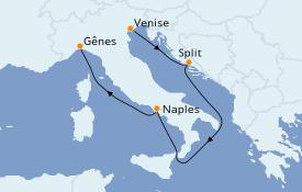 Itinerario de crucero Mediterráneo 5 días a bordo del Costa Mediterranea