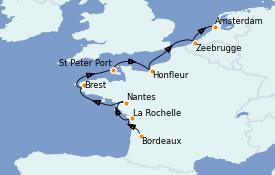 Itinerario de crucero Atlántico 10 días a bordo del Azamara Pursuit