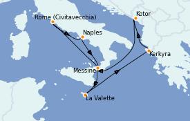 Itinerario de crucero Mediterráneo 8 días a bordo del Enchanted Princess