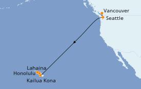 Itinerario de crucero Hawaii 11 días a bordo del Ovation of the Seas