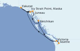 Itinerario de crucero Alaska 8 días a bordo del Norwegian Sun