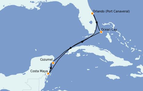 Itinerario del crucero Caribe del Este 7 días a bordo del MSC Meraviglia