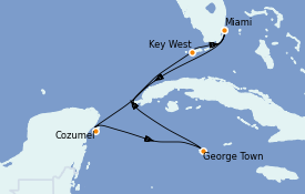 Itinerario de crucero Caribe del Oeste 7 días a bordo del Jewel of the Seas