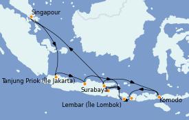 Itinerario de crucero Asia 15 días a bordo del ms Westerdam
