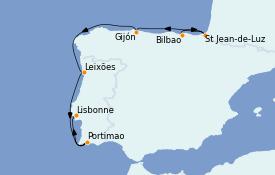 Itinerario de crucero Mediterráneo 8 días a bordo del MS Sirena