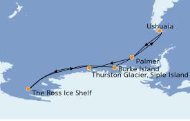 Itinerario de crucero Suramérica 25 días a bordo del Le Commandant Charcot