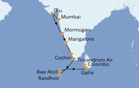 Itinerario de crucero Maldivas 13 días a bordo del Le Lapérouse