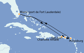 Itinerario de crucero Caribe del Este 8 días a bordo del Celebrity Edge