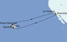 Itinerario de crucero Hawaii 16 días a bordo del Sapphire Princess
