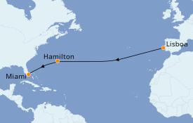 Itinerario de crucero Trasatlántico y Grande Viaje 2021 13 días a bordo del Azamara Quest