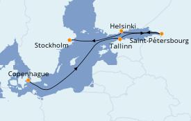Itinerario de crucero Mar Báltico 8 días a bordo del Le Champlain