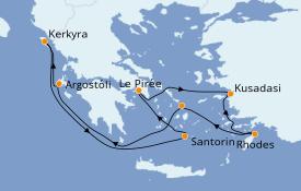 Itinerario de crucero Grecia y Adriático 8 días a bordo del Norwegian Pearl