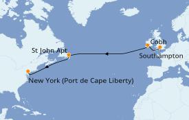 Itinerario de crucero Trasatlántico y Grande Viaje 2021 11 días a bordo del Anthem of the Seas