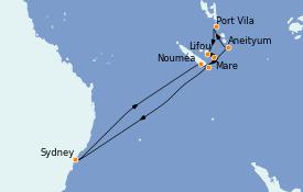 Itinerario de crucero Australia 2022 12 días a bordo del Celebrity Eclipse