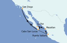Itinerario de crucero Riviera Mexicana 10 días a bordo del ms Zuiderdam