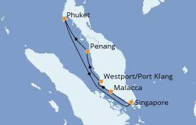 Itinerario de crucero Asia 8 días a bordo del Quantum of the Seas