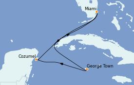 Itinerario de crucero Caribe del Oeste 6 días a bordo del Celebrity Summit