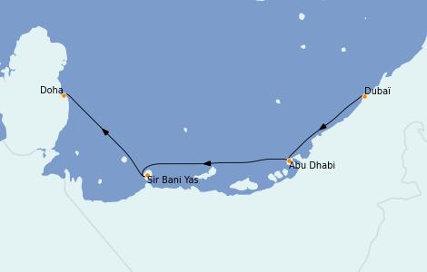 Itinerario del crucero Dubái 5 días a bordo del MSC Virtuosa