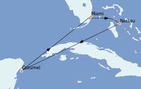 Itinerario de crucero Bahamas 6 días a bordo del Celebrity Summit
