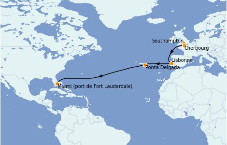 Itinerario del crucero Islas Canarias 14 días a bordo del Sky Princess