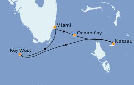 Itinerario de crucero Bahamas 8 días a bordo del MSC Armonia