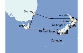 Itinerario de crucero Australia 2022 16 días a bordo del ms Oosterdam