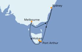 Itinerario de crucero Australia 2022 9 días a bordo del Majestic Princess