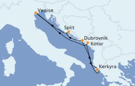 Itinerario de crucero Grecia y Adriático 6 días a bordo del Norwegian Gem