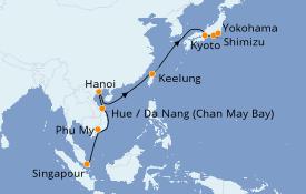 Itinerario de crucero Trasatlántico y Grande Viaje 2021 15 días a bordo del Celebrity Eclipse