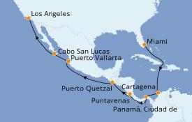 Itinerario de crucero Riviera Mexicana 18 días a bordo del Azamara Journey