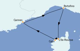 Itinerario de crucero Mediterráneo 8 días a bordo del Star Clipper
